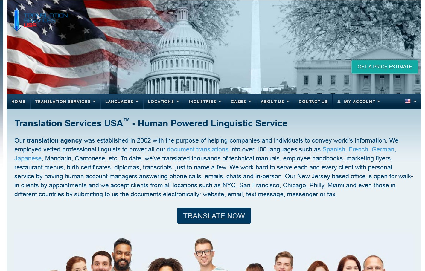 Översättningstjänster USA