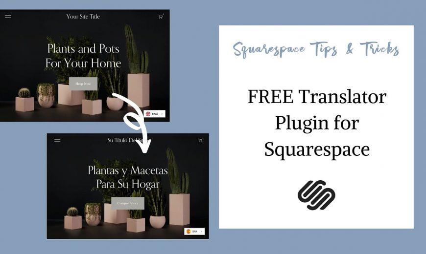 Vertaal de Squarespace-website
