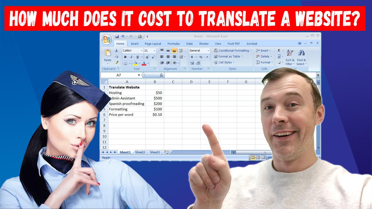 precio de traducción del sitio web